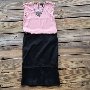 Adorable Bebe skirt with bow detail